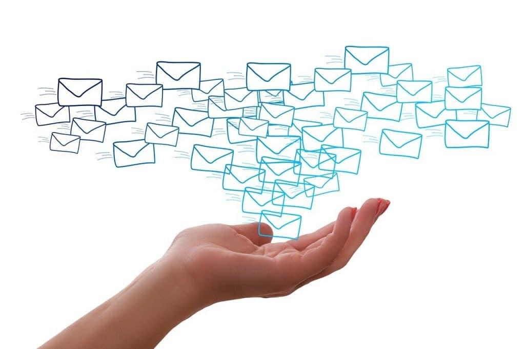 fin d'un mail