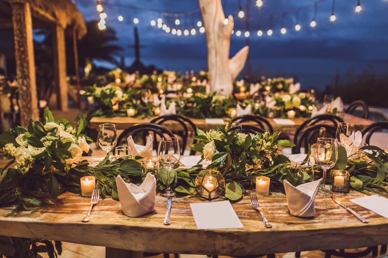 banquet de mariage en extérieur